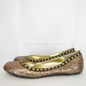 Nicole Miller Women's 9M Flats Loafers Metallic